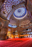 Blue Mosque, Istanbul. Interior of the Sultanahmet Mosque (Blue Mosque) in Istanbul, Turkey Stock Photos