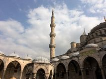 Blue mosque in Istanbul city stock images