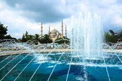 Blue Mosque at Istanbul on a cloudy day Royalty Free Stock Image