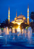 The Blue Mosque In Istanbul at dawn Royalty Free Stock Photo