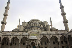 The blue mosque of Istanbul. The famous Blue Mosque of Istanbul with it's enormous cupolas Stock Photo