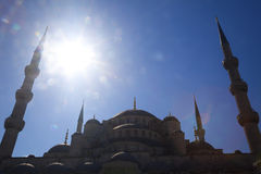Blue Mosque in Istanbul / fantastic sunshine Stock Photos