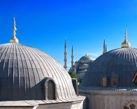 Blue Mosque, Istanbul. Blue Mosque from Hagia Sophia in Istanbul, Turkey Royalty Free Stock Photography