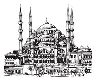 Blue Mosque, Istanbul illustration Royalty Free Stock Photos