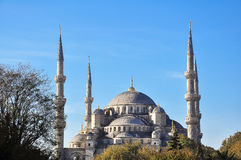Blue Mosque of Istanbul. This image was taken in Istanbul during the morning time. Blue Mosque is one of landmark of Istanbul, Turkey Stock Photo