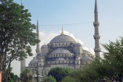 Blue Mosque in Istanbul. Minaret of the Blue Mosque, Istanbul, Turkey. 20 march 2014 Stock Photos