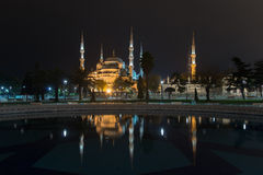 Blue Mosque in Istanbul at night Royalty Free Stock Photo