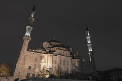 Blue Mosque in Istanbul at night Royalty Free Stock Photography