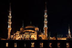 Blue Mosque in Istanbul at night. Blue Mosque at night, Istanbul, Turkey Royalty Free Stock Image