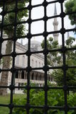 Blue Mosque, Istanbul seen through grid fence Stock Image