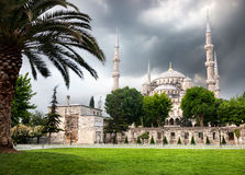 Blue mosque in Istanbul Royalty Free Stock Photos