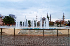 Blue Mosque in Istanbul, Sultanahmet Square Royalty Free Stock Images