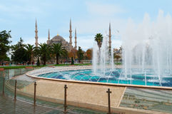 Blue Mosque in Istanbul, Sultanahmet Square Royalty Free Stock Photo
