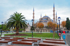 Blue Mosque in Istanbul, Sultanahmet Square Royalty Free Stock Image