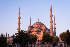 Blue Mosque in Istanbul at sunrise. Middle East travel Islam Islamic architecture Royalty Free Stock Photo