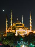 Blue Mosque in Istanbul, with sunset Stock Image