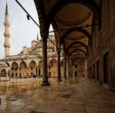 Blue Mosque, Istanbul, Turkey. The Sultan Ahmed Mosque or Sultanahmet Camii or Blue Mosque is used as a mosque and a popular tourist attraction Royalty Free Stock Photo