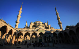 Blue Mosque in Istanbul, Turkey. The Sultan Ahmed Mosque in Istanbul (Turkey) known as the Blue Mosque royalty free stock photography