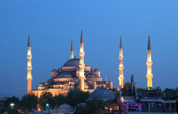 Blue Mosque in Istanbul, Turkey. The famous Sultan Ahmed Mosque (Blue Mosque) in Istanbul, Turkey Stock Photo