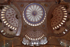 Blue Mosque in Istanbul, Turkey. Interior of Sultan Ahmed Mosque (Blue Mosque) in Istanbul, Turkey Royalty Free Stock Photo