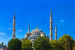 Blue mosque in Istanbul Turkey. Architecture religion background Stock Photos