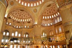 Inside the Blue Mosque in Istanbul, Turkey Stock Photography