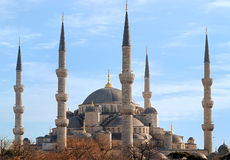Blue Mosque of Istanbul, Turkey. Also known as Sultan Ahmed Mosque, on a sunny day Royalty Free Stock Photography