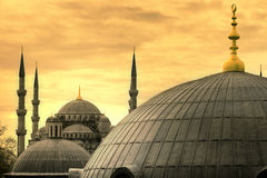 The Blue Mosque in Istanbul Stock Images