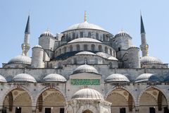 Blue Mosque in Istanbul Turkey. View of Blue Mosque in Istanbul Turkey Royalty Free Stock Image