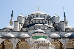 Blue Mosque in Istanbul Turkey stock image