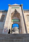 Blue mosque in Istanbul Turkey. Architecture religion background Stock Image