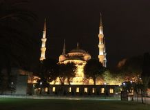 Blue Mosque, Istanbul, Turkey. The Blue Mosque in Istanbul, Turkey at night Stock Photo