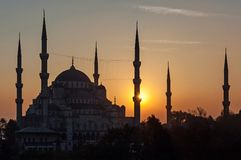 The Blue Mosque in Istanbul, Turkey Royalty Free Stock Photos