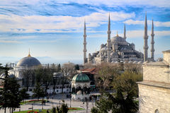 Blue Mosque in Istanbul, Turkey. Blue mosque or Sultanahmet mosque in Istanbul, Turkey Royalty Free Stock Photos