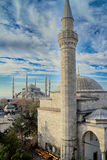 Blue Mosque in Istanbul, Turkey. Blue mosque Sultanahmet mosque in Istanbul, Turkey Royalty Free Stock Photo
