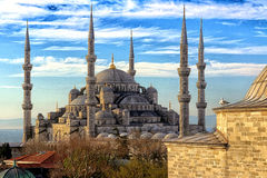 Blue Mosque in Istanbul, Turkey. Blue mosque or Sultanahmet mosque in Istanbul, Turkey Stock Photo