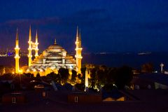Blue Mosque in Istanbul, Turkey, Sultanahmet Royalty Free Stock Photography