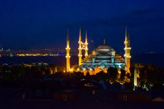 Blue Mosque in Istanbul, Turkey, Sultanahmet Stock Photo