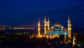 Blue Mosque in Istanbul, Turkey, Sultanahmet Stock Images