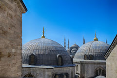 Blue Mosque in Istanbul, Turkey. Blue mosque Sultanahmet mosque view from Hagia Sophia in Istanbul, Turkey Royalty Free Stock Photos