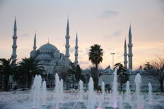 Blue mosque Istanbul. Turkey in Twilight stock images
