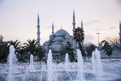 Blue mosque Istanbul. Turkey in Twilight royalty free stock image