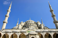 The Blue Mosque, Istanbul Turkey. The Blue Mosque, view from an entrance, Istanbul Turkey Stock Image