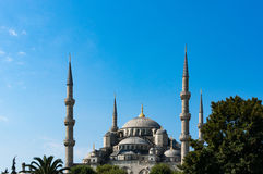 Blue Mosque in Istanbul, Turkey. View of exterior of Sultanahmet Stock Images