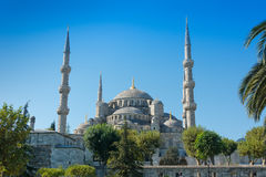 Blue Mosque on Istanbul Turkey. View of the main dome of the Blue Mosque on Istanbul Turkey Stock Image