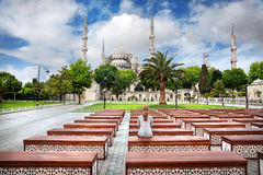 Blue mosque in Istanbul Royalty Free Stock Photo