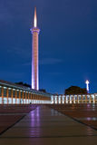 Blue mosque jakarta. At night royalty free stock photo