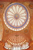 The Blue Mosque. Looking up at the ornate tiled ceiling of the domes of the Blue Mosque in Istanbul, Turkey Stock Photography