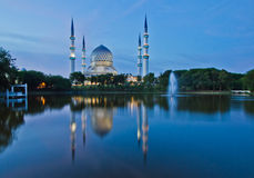 Blue Mosque. The Blue Mosque in Malaysia stock image