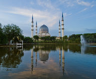 Blue Mosque. The Blue Mosque in Malaysia royalty free stock images